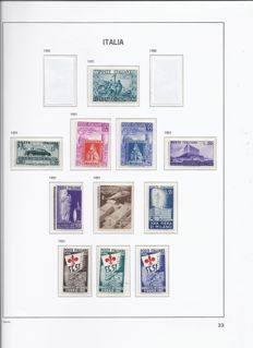 Italy 1951/55, complete years Mi.