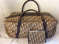 Christian Dior – Vintage travel bag and matching wallet, in perfect condition