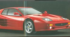 Ferrari F512M - Original brochure Ferrari F512M Press Kit Brochure - 1994. 2 languages. Italian/English, including the 8 slides in high quality