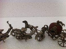 Miniatures set (3x) made of 800/1000 Silver