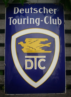 DTC - Deutscher Touring-Club Enamel Sign - 1950