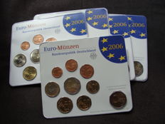 Germany - Year pack 2006 A, D, F, G, J, including 5x 2 Euro Holstentor