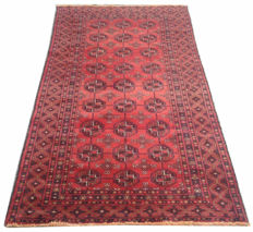 FINE QUALITY Afghan Hand Knotted Balouch Herati Area Rug 193 cm x 104 cm
