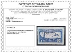France 1930 - Aimail 1f.50 bright ultramarine blue, perforated EIPA30, signed Calves with digital certificate - Yvert no. 6c