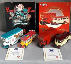 Corgi - Schaal 1/50 - 2 sets met 4 bussen: York Fair & Northern Collection