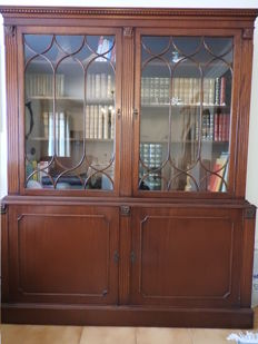 Bookcase, English style, mahogany, England, 20th century