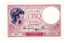 France - Lot of 11 various French currency notes