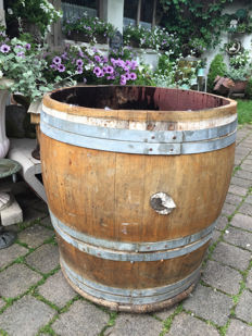 Beautiful wooden barrel