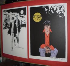 "Alessandrini, Giancarlo - 2x lithographs ""Dylan Dog"" with first-day cancellation (2013)"