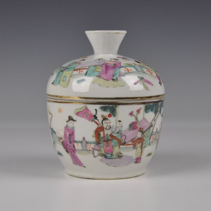 Famille Rose Pot with Lid - China - around 1920