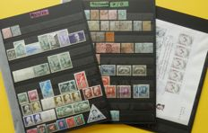 Monaco 1880's/1980's - Collection of stamps, sheets and FDC's on stockpages