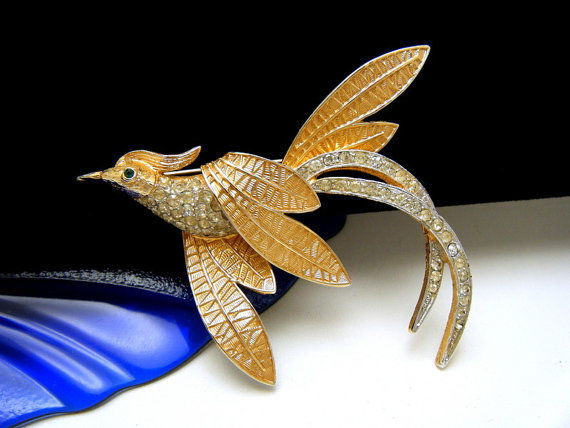 Coro craft vintage  phoenix brooch New York