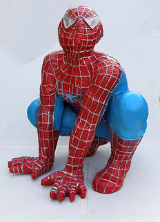 Large (60 cm high) Spider-Man doll, 1980s