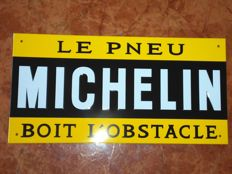 Michelin enamelled plate
