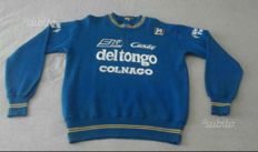 Del Tongo Colnago rare vintage wool sweater SMS Santini, for a cyclist 1970s-80s.