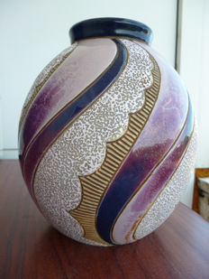 Amphora - Art Deco earthenware vase