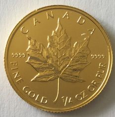 Canada - 10 dollars 2014 'maple leaf' - ¼oz gold