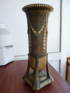 Paul Dachsel earthenware Art Nouveau vase