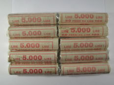 Italian Republic — 100 lire, 1993 'Italia turrita' (Turreted Italy), 500 pieces in 10 rolls