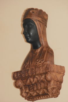Terracotta bust of a Black Madonna