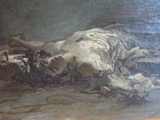 Unknown (19th/20th century) - Reclining Jesus in monochrome tones