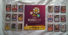 Panini - Euro 2012 Poland/Ukraine (Exclusive German Version) - Empty album + Full set of stickers + German team poster and stickers D1-D20 + Coca cola Stickers