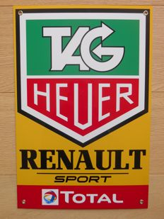 Metal sign for Tag Heuer / Renault Sport / Total - F1 team