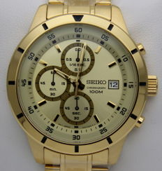 "Seiko ""Gold"" Chronograph 100M – Men's quartz watch"