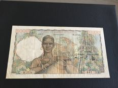 French West Africa - 1.000 Francs 19.12.1952 - Pick 42