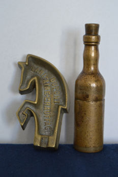 World War WW 1 I Hand Made Lighter (museum piece) + Dupont Horse Shape Ashtray