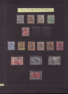 German Empire/Reich 1900/1923 - collection, many tested with war forgery with postal items