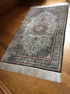 Exceptional and exclusive silk,  Persian, Isfahan carpet of outstanding quality.