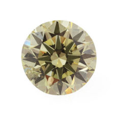 0.36 CT – Natural Fancy Yellow Green – Round – VS2