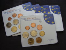 Germany - Year pack 2003 A, D, F, G, J - 5 pieces