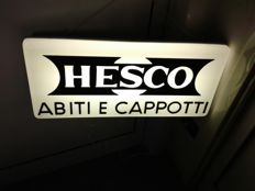 Working lit sign for clothes and Hesco jackets