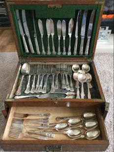 47 Silver Plate Vintage Pieces of Cutlery, Sheffield Made, Early 20th. Century