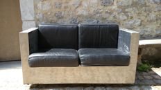 Designer unknown - designer metallic sofa.