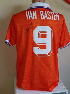 Marco van Basten - hand signed original Dutch Team 1992 shirt + COA