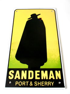 Enamel advertising sign - Sandeman Port & Sherry - second half 20th century