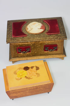 Jewellery box, music box, 2nd half of the 20th century