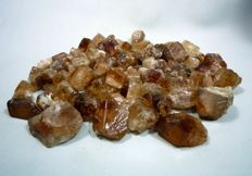 Champagne Color Topaz Crystals Lot Rough - 330 Grams