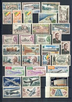 Francophone Africa 1960/1985 – Post-independence collection, including numerous thematics and non-serrated