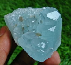 Top Grade Sky Blue Aquamarine Mineral Specimen - 54 x 42 x 35mm - 518.70ct