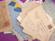 World – Collection of stamped stationery and old letters.