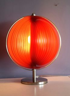 Slat table lamp / Moon lamp, late 20th century