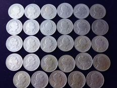 Portugal – Complete set of 29 coins of 50 centavos – 1927 to 1968 – Lisbon