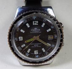 Fortis 400 Vacuum - Lockable Bezel - 400M Diver - 1960's - Men's Wristwatch