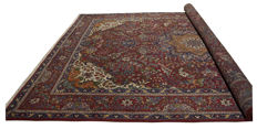 (Size 392 × 295 cm) Genuine Original Persian Rug (hand-knotted) (TABRIZ PERSIA IRAN) – From 1940s/50s – With certificate of authenticity from official expert – (Galleria Farah 1970)