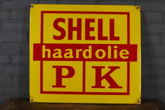 Shell enamel sign - new old stock