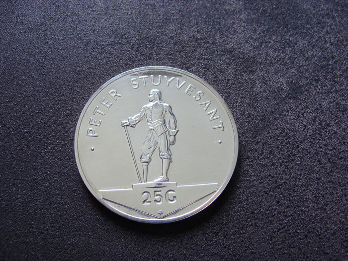 "Netherlands Antilles – 25 guilder coin 1977 ""Peter Stuyvesant"""